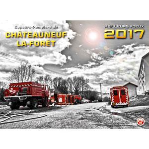 Calendrier des Sapeurs-Pompiers de Chateauneuf 2017.