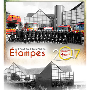 Calendrier des Sapeurs-Pompiers d'Étampes 2017.