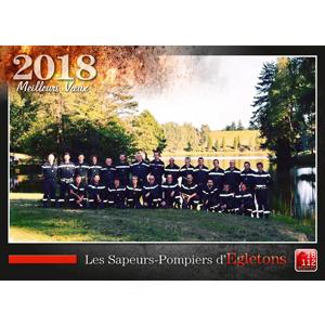 Le calendrier des Sapeurs-Pompiers d'Egletons 2018.