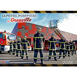 Les sapeurs-pompiers de Granville en Normandie.