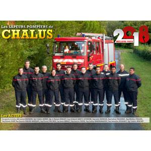 Le calendrier de l'amicale des sapeurs-pompiers de Chalus.
