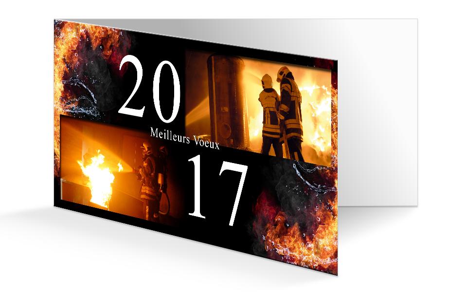 Carte de voeux pompiers personnalis 2017 npc calendrier - Cartes de voeux virtuelles 2017 ...